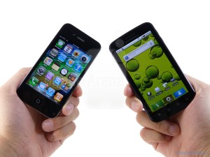 iphone vs android, photo from phonarea dot com