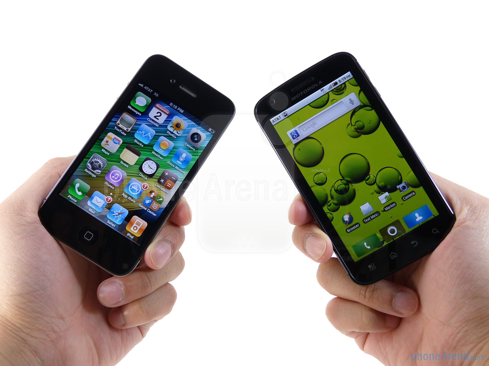 Camera Iphone Or Android Phone whats better iphone or android electronics biz vs photo from phonarea dot com